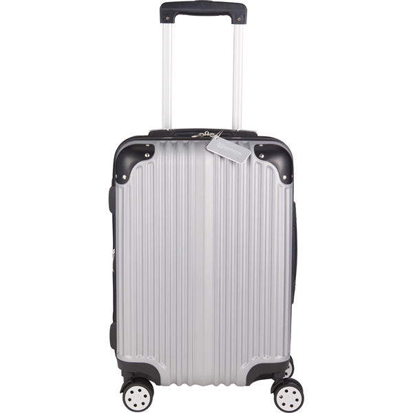 Metallic Upright Expandable Luggage with Tag