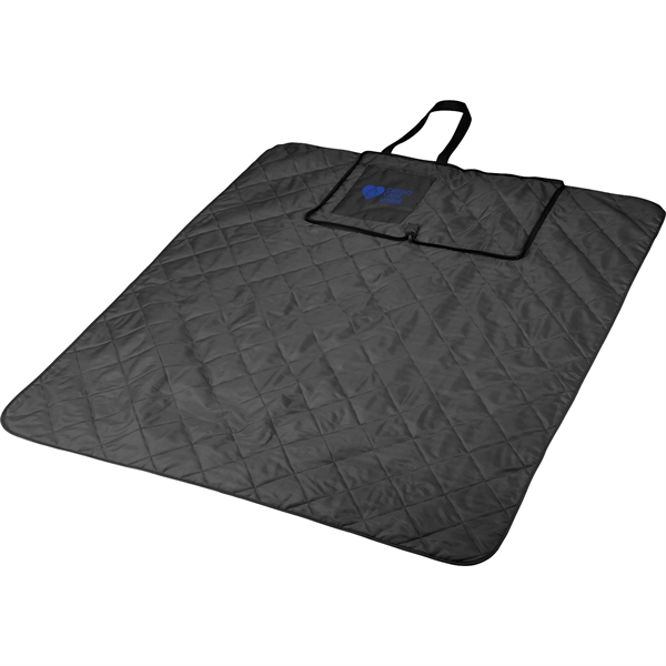 Fold Up Picnic Blanket with Carrying Strap
