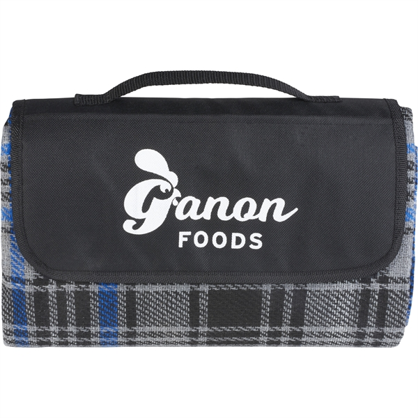 Knitted Plaid Picnic Blanket
