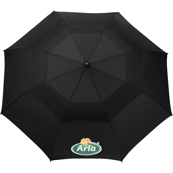 "56"" Auto Open Folding Umbrella w/ wood handle"