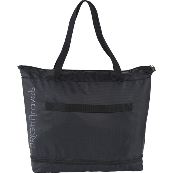 BRIGHTtravels Foldable Zippered Tote