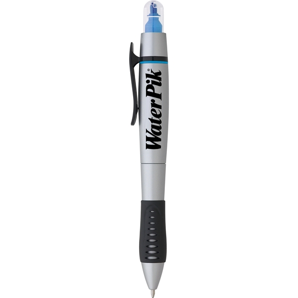 Dual-Tip Ballpoint Pen-Highlighter