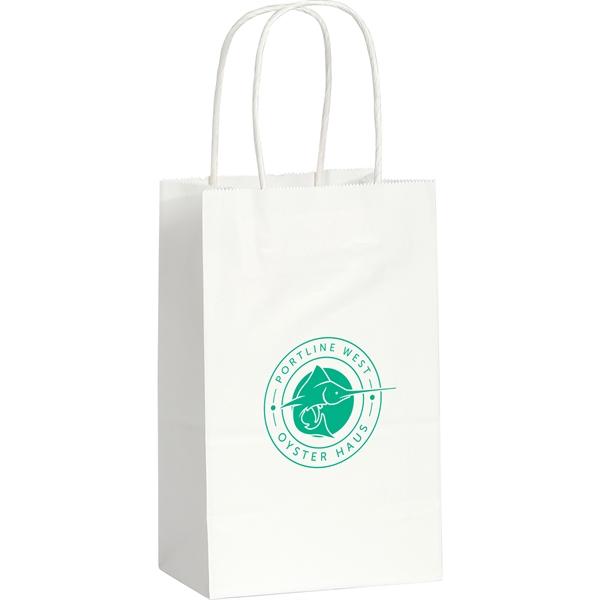 Kraft Paper Mini Gift Bag White