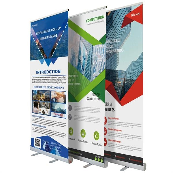 Outdoor Heavy Duty Rollup Banner Stand with 47