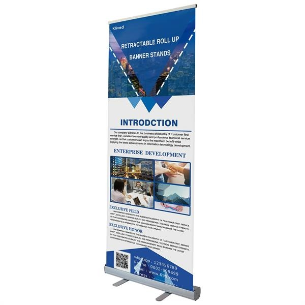 Retractable Banner Stand with 40