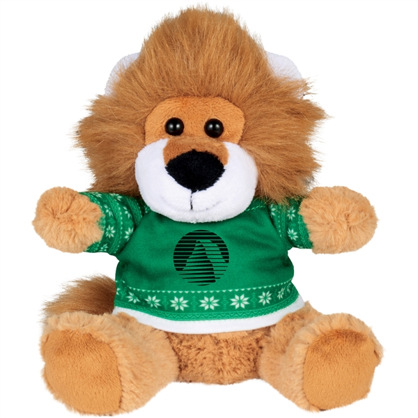 "6"" Ugly Sweater Plush Lion"