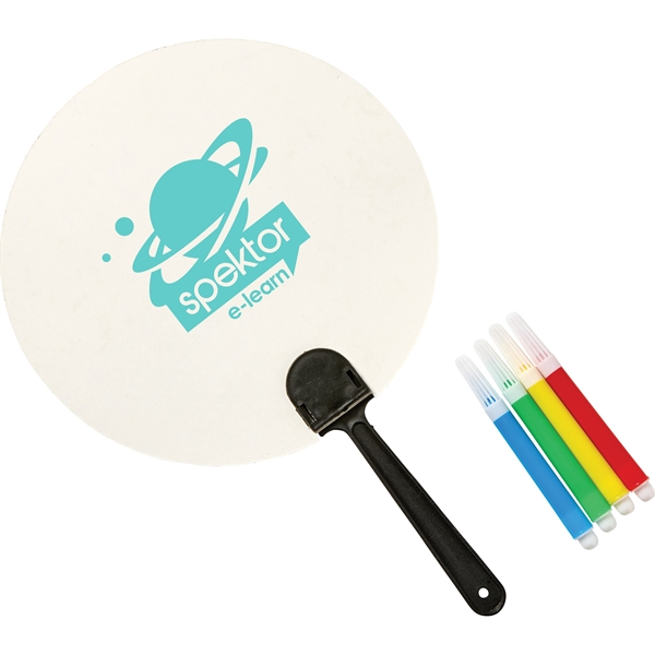 Coloring Paper Fan Set