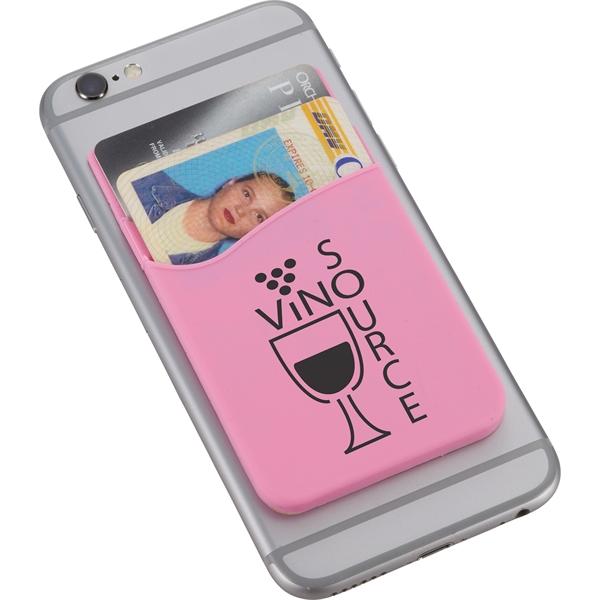 Dual Pocket Slim Silicone Phone Wallet