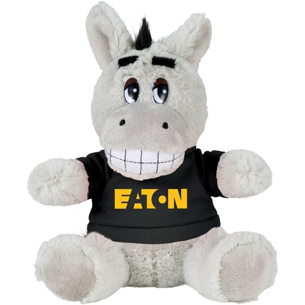 """6"""" Plush Donkey with Shirt"""