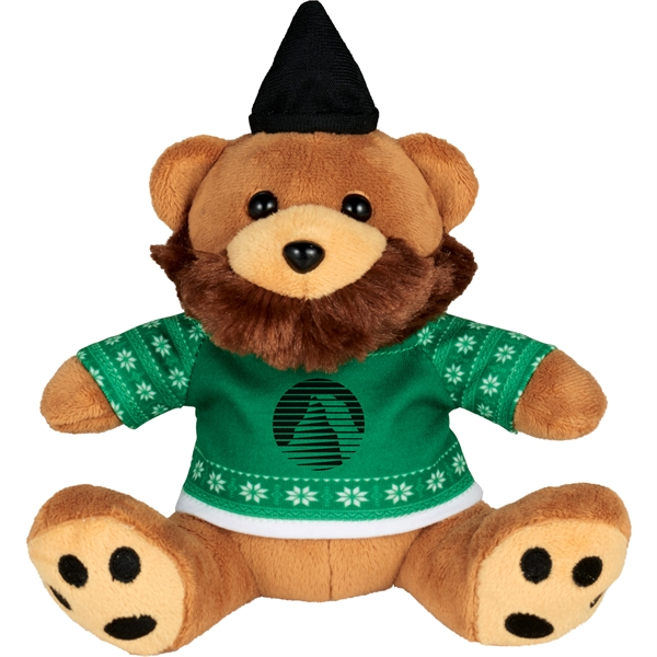 "6"" Ugly Sweater Hipster Plush Bear"