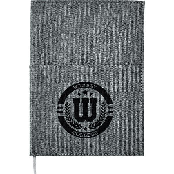 """5""""x 7"""" Canvas Pocket Refillable Notebook"""