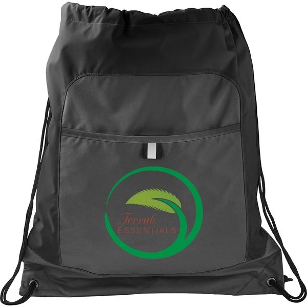 Gray Color Pop Drawstring Bag