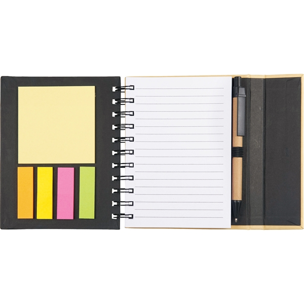 "5.5"" x 6"" Lock-it Mini Spiral Notebook w"