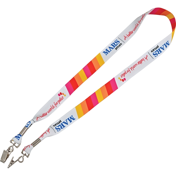 "Full Color Premium Dbl-Ended 1"" Lanyard"