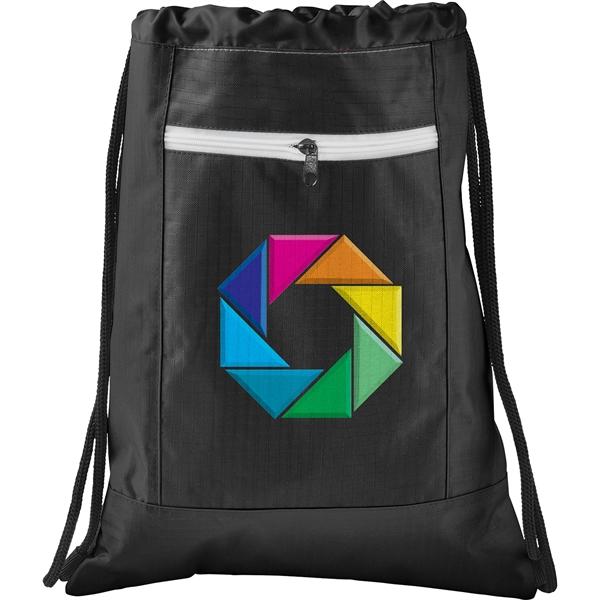 Zippered Ripstop Drawstring Bag