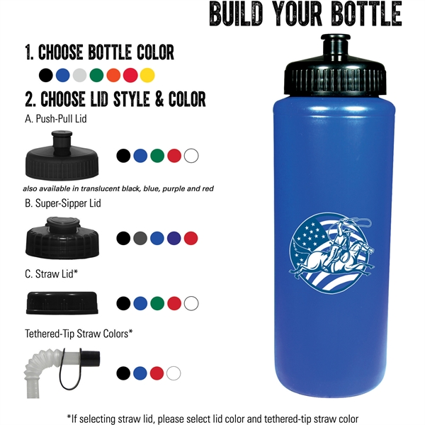 Classic Squeeze 32oz Sports Bottle