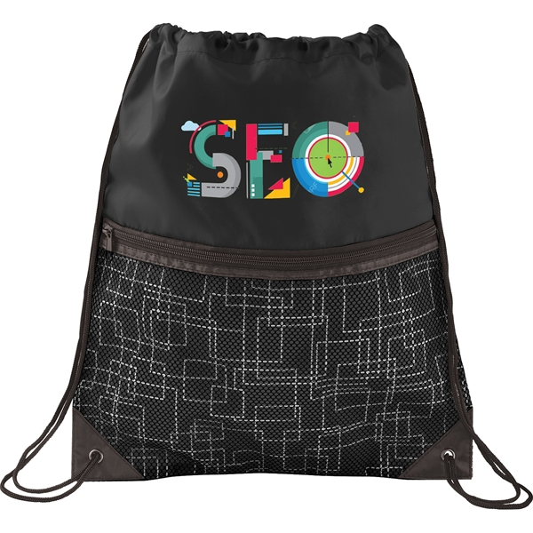 Tech Print Mesh Drawstring Bag