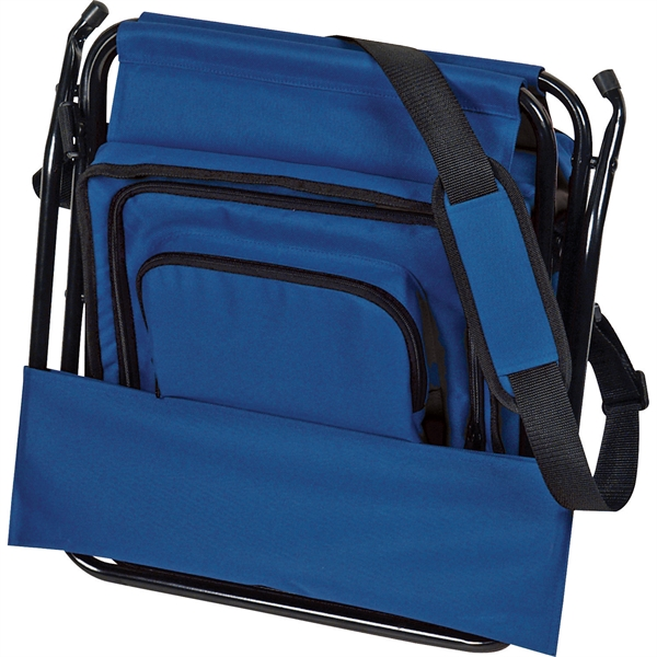 Folding Insulated 12-Can Cooler Chair - Folding Insulated 12-Can Cooler Chair