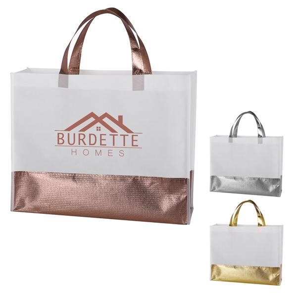 Flair Metallic Accent Non-Woven Tote Bag