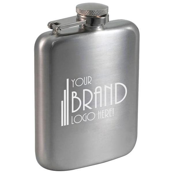 Visol Podova Satin Stainless Steel Liquor Flask - 6 ounces