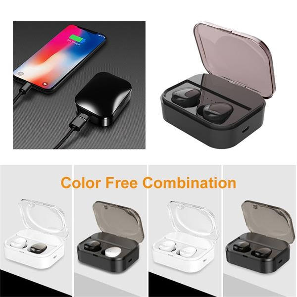 5D Surround Sound Wireless Earbuds with Charging Dock