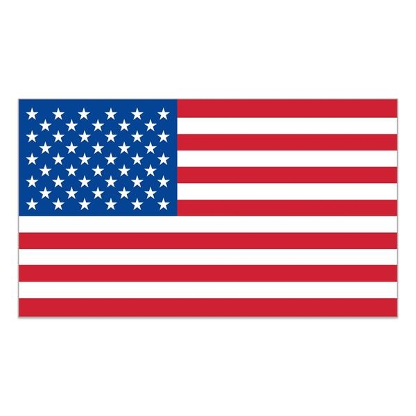 "White Vinyl U.S. Flag Removable Adhesive Decal (1 7/16""x2"
