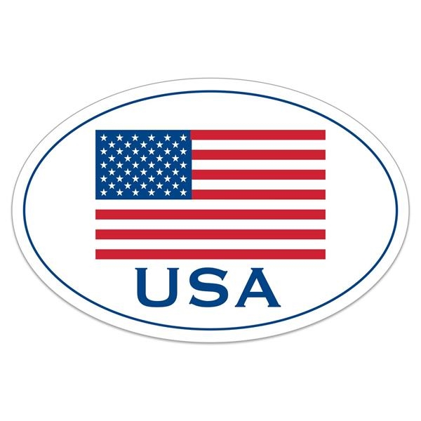 "White Vinyl U.S. Flag Removable Adhesive Decal (4""x6"")"