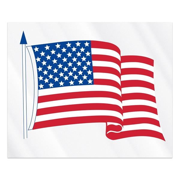 "Clear Static Cling U.S. Flag Static Face Decal (3 1/2""x4"
