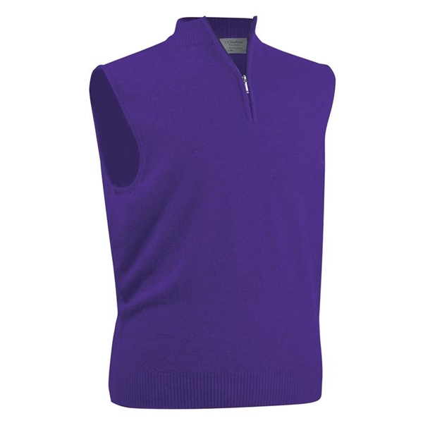 Glenbrae Men's Merino Zip Neck Slipover Sweater