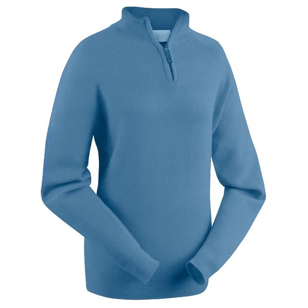 Glenbrae Women's Lambswool Zip Neck Sweater