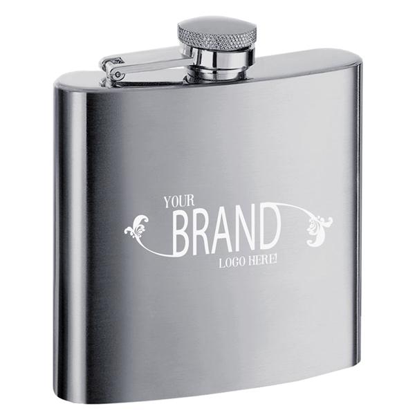 Visol Derek Satin Stainless Steel Liquor Flask - 6 ounces