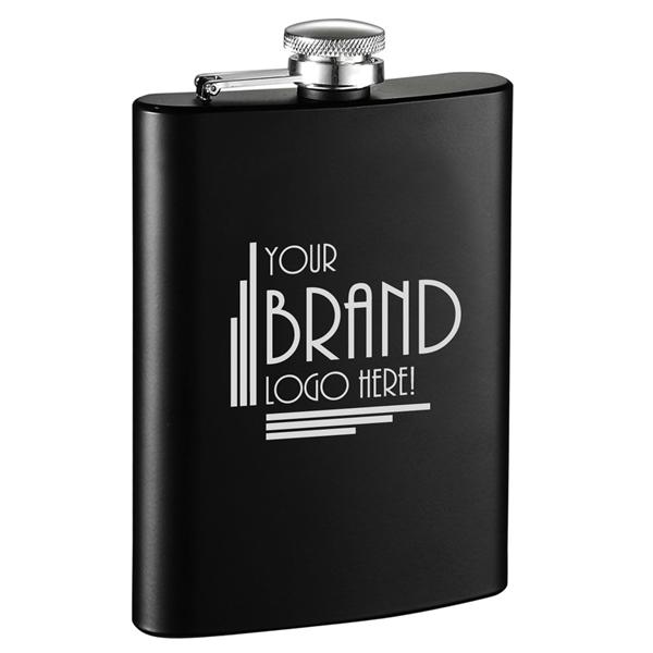 Visol Raven Black Matte Liquor Flask - 9 ounces