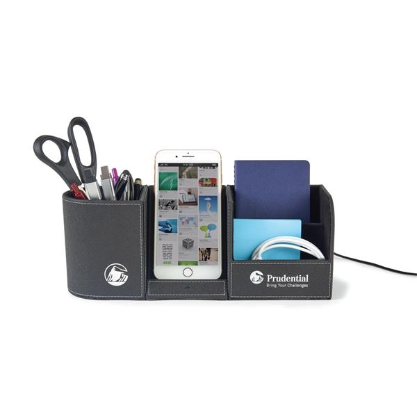 Truman Wireless Charging Desk Organizer