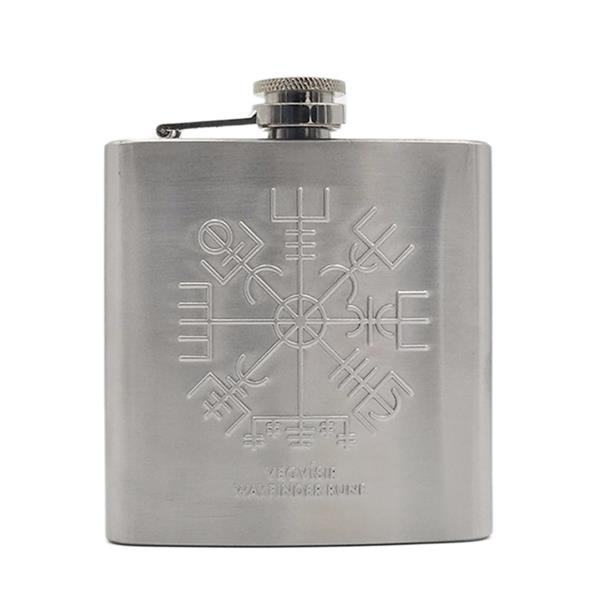 Embossed Flask 6 Ounce