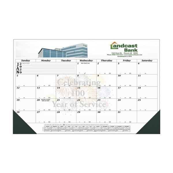 12 Month Full Color Desk Calendar - 17