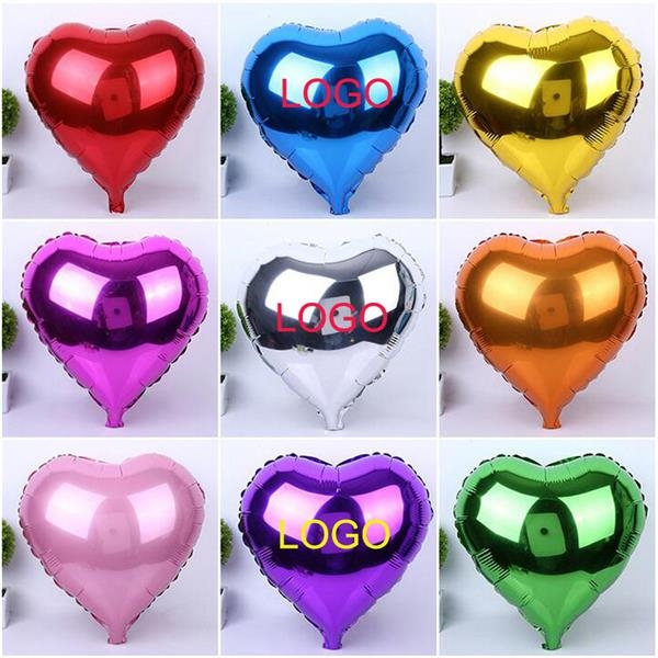 Custom Heart Shape Mylar Balloon Or Aluminum Foil Balloon