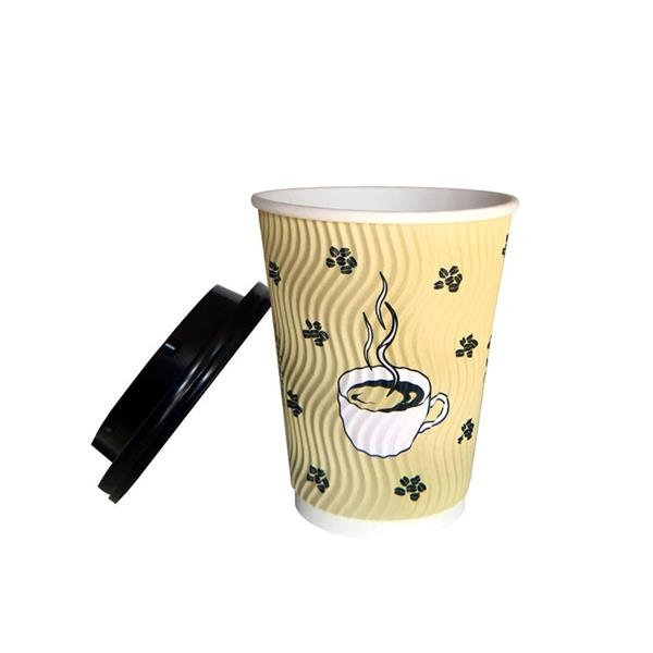 Disposable Ripple Hot Paper Cups