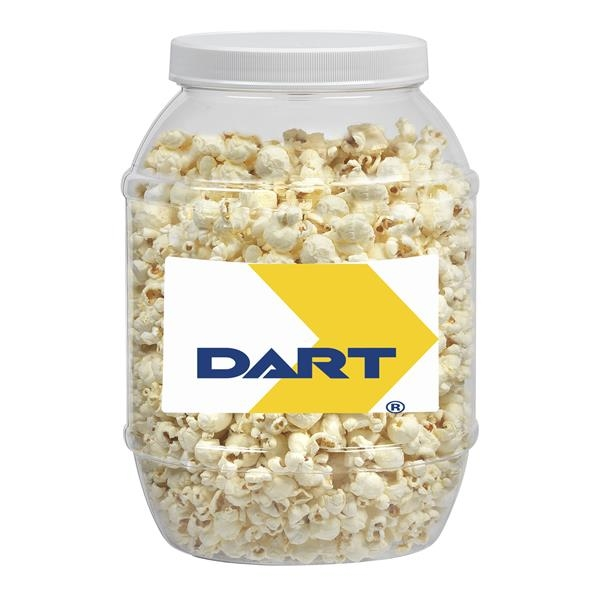 Large Plastic Jar with Butter Popcorn
