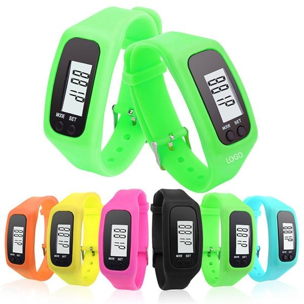 Digital Led Silicone Watch Pedometer