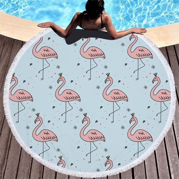 Flamingo  themed Beach Towel