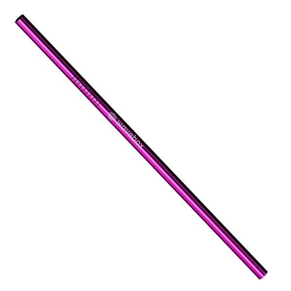 Violet Stainless Steel Straw qty 4