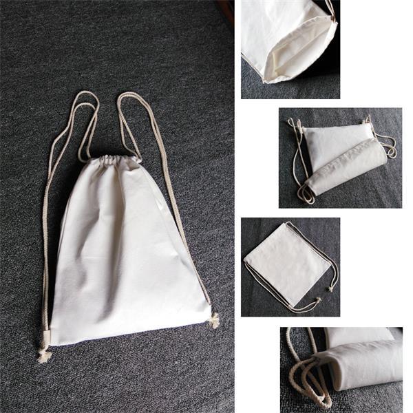 Canvas Drawstring Shoulder Bag Backpack