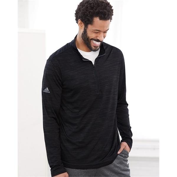 Adidas Lightweight Melange Quarter-Zip Pullover