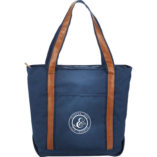 """Large Zippered Capitol 11"""" Tablet Tote"""