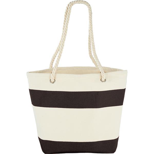 Capri Stripes 12oz Cotton Canvas Shopper Tote