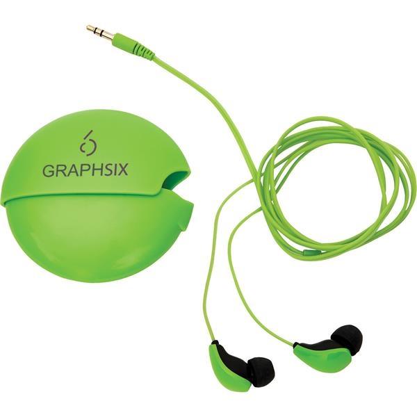 Glow-In-The-Dark Earbuds w/ Case