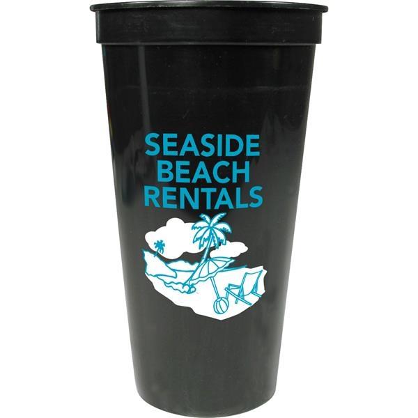 Solid 24oz Stadium Cup