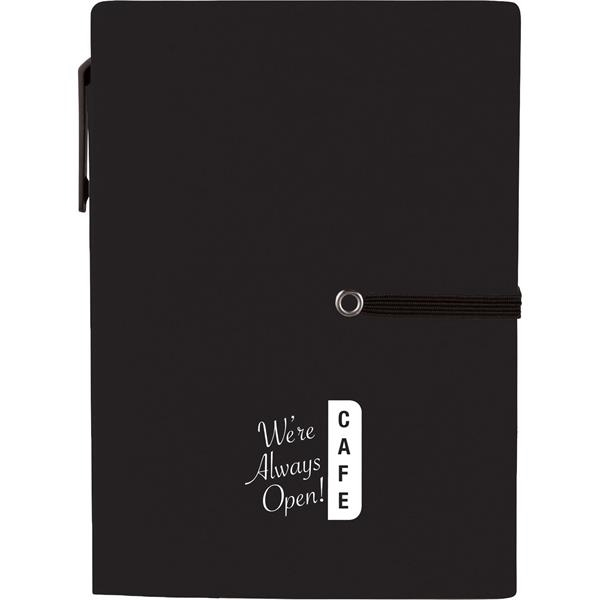"4"" x 5.5"" Stretch Notebook with Pen"