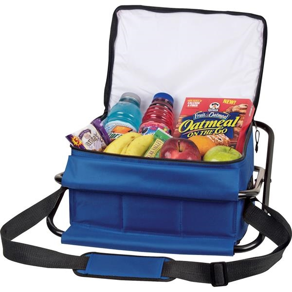 Deluxe Insulated 12-Can Cooler Chair - Deluxe Insulated 12-Can Cooler Chair