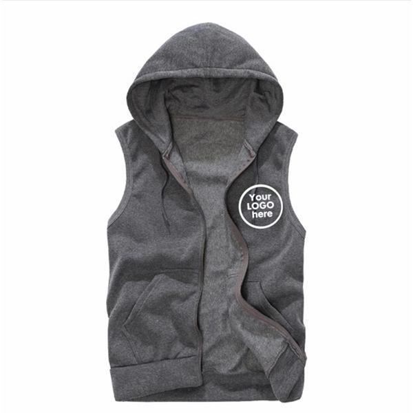 Sleeveless Hood Jacket